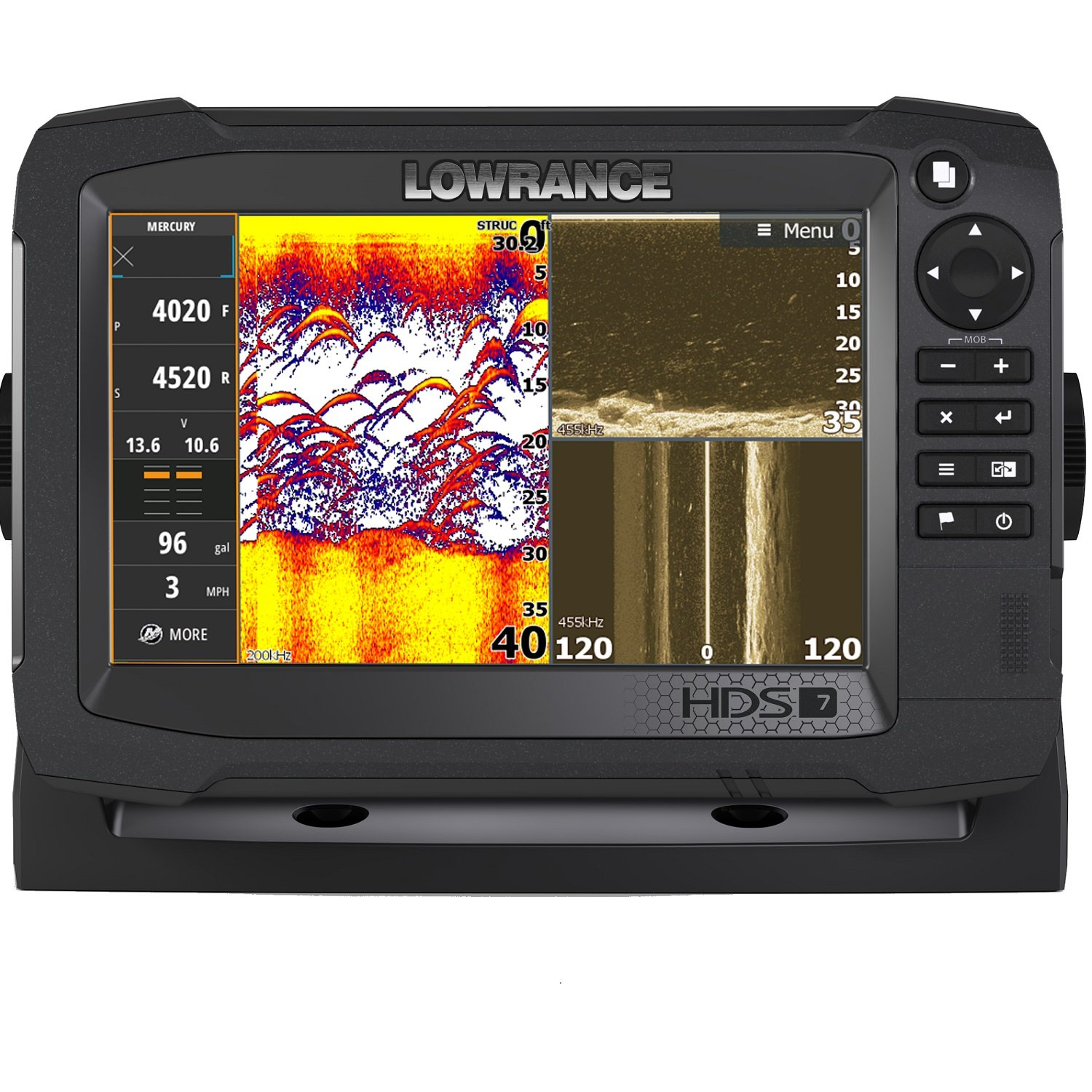 Lowrance Navico HDS-7 Carbon Insight with Total Scan Transducer by Lowrance