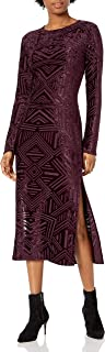 product image for Only Hearts Women's Cut Velour Crew Neck Dress