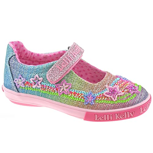 Girls' Shoes Lelli Kelly Rainbow Sparkle Girls Multi Glitter Mary Jane Shoe Clothes, Shoes & Accessories