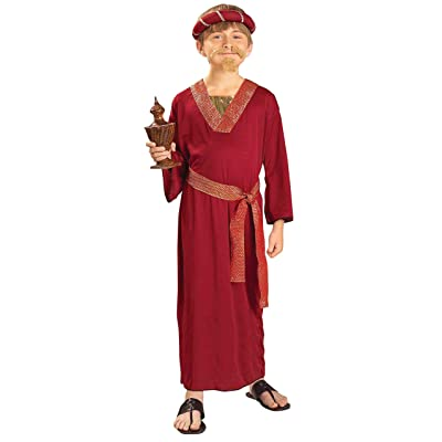 Forum Novelties Biblical Times Burgundy Wiseman Child Costume, Medium: Toys & Games