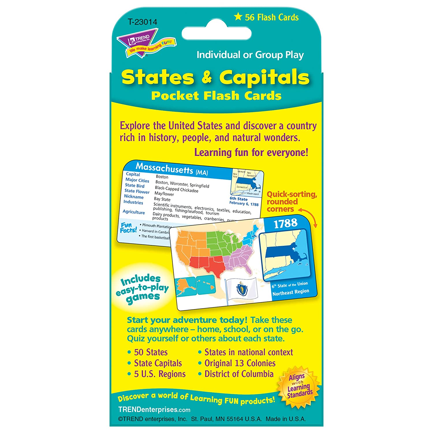 graphic relating to States and Capitals Flash Cards Printable identified as Suggests Capitals Pocket Flash Playing cards