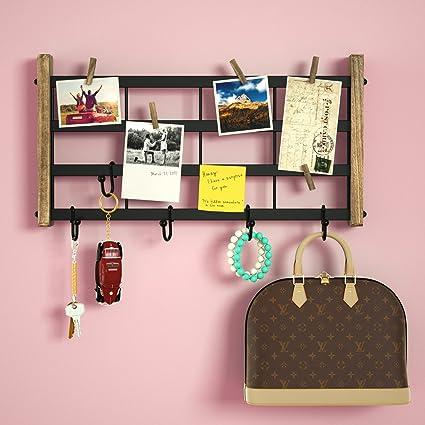 Amazon.com: RooLee Decorative Shelf Wall Mounted - Rustic Wood Shelf ...