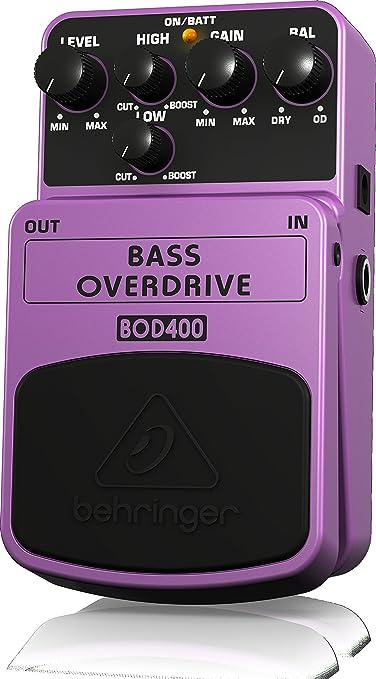 Behringer BOD400 - Pedal de efecto overdrive para bajo: Amazon.es ...