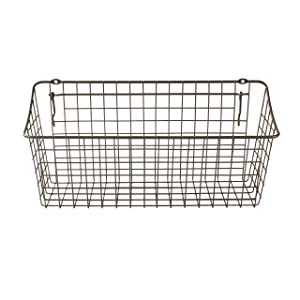 "Spectrum Diversified 88376 Pegboard & Wall Mount Basket, 15"" x 5"" x 7"", Industrial Gray, 15"