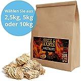 5 kg Kamin-Anzünder und Grill-Anzünder (Ofen-anzünder, Anzündwolle, Anzündhilfe) aus Bio Holz-Wolle und Wachs - schnell und umweltfreundlich