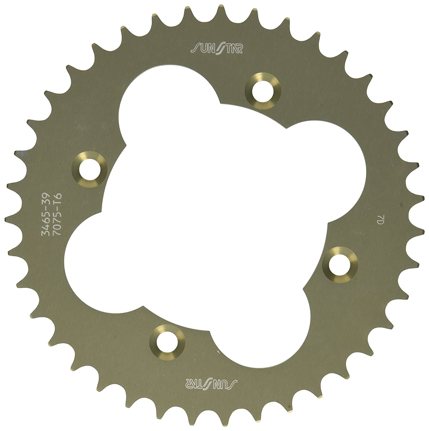 Sunstar 5-346539 Works Triplestar 39-Teeth 520 Chain Size Rear Aluminum Sprocket