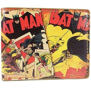 Cartera de DC Comics Batman Estilo de dibujos animados Amarillo: Amazon.es: Equipaje