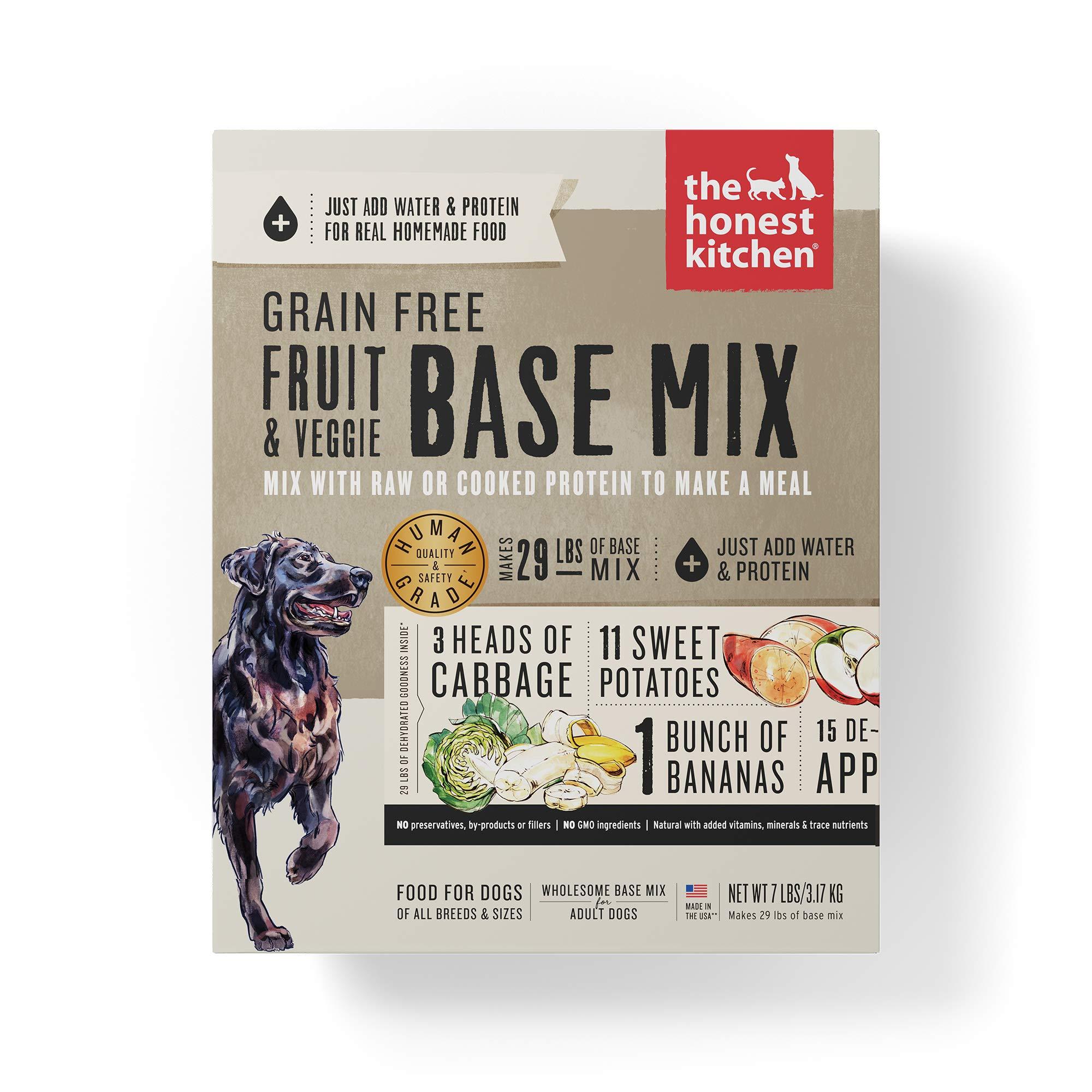 The Honest Kitchen Grain Free Fruit & Veggie Base Mix Recipe for Dogs, 7lb box by Honest Kitchen