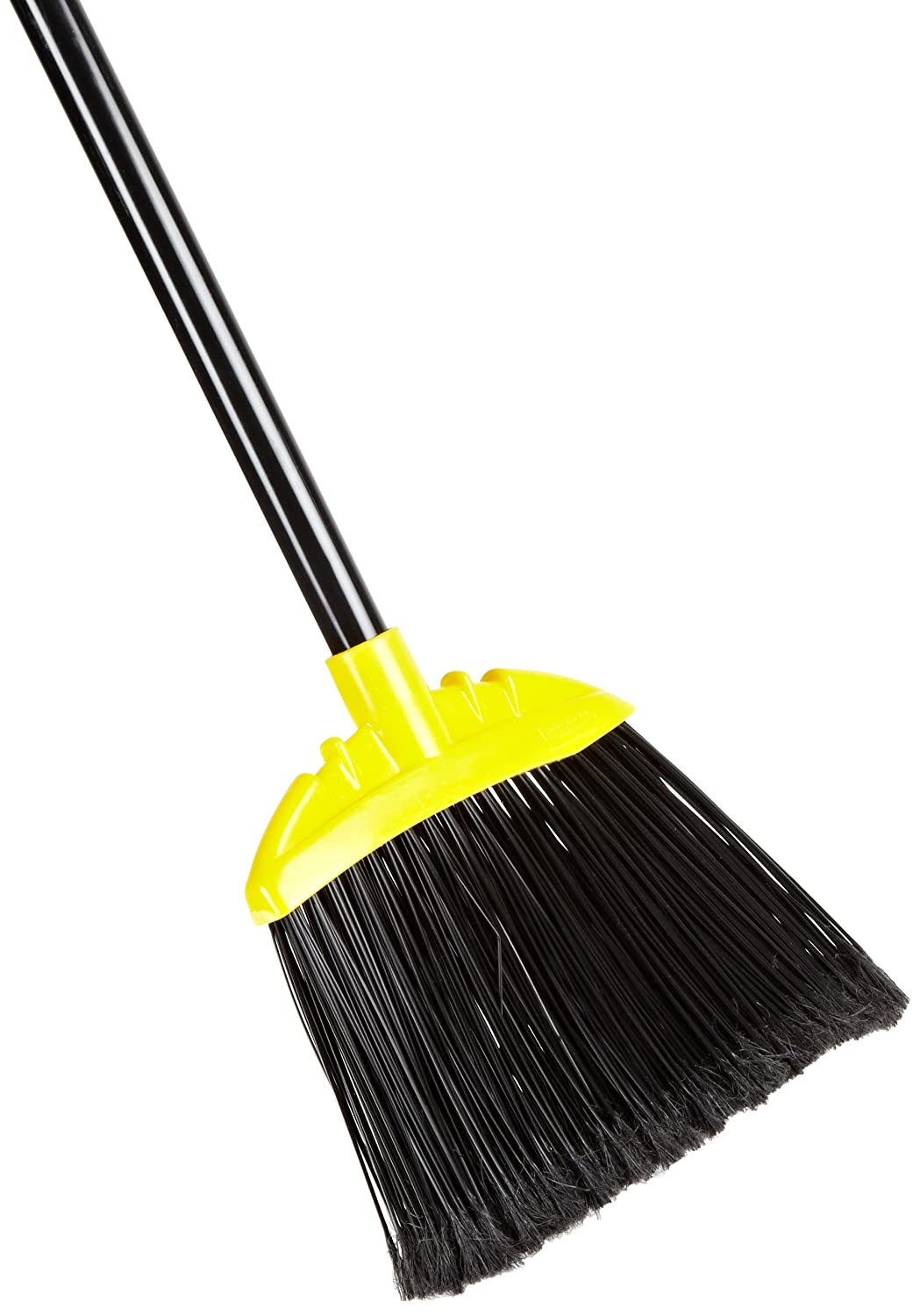 Rubbermaid Commercial Jumbo Smooth Sweep Polypropylene Angle Broom with Black Metal Handle, 10-Inch Head Width, Black (FG638906BLA) Rubbermaid Commercial Products