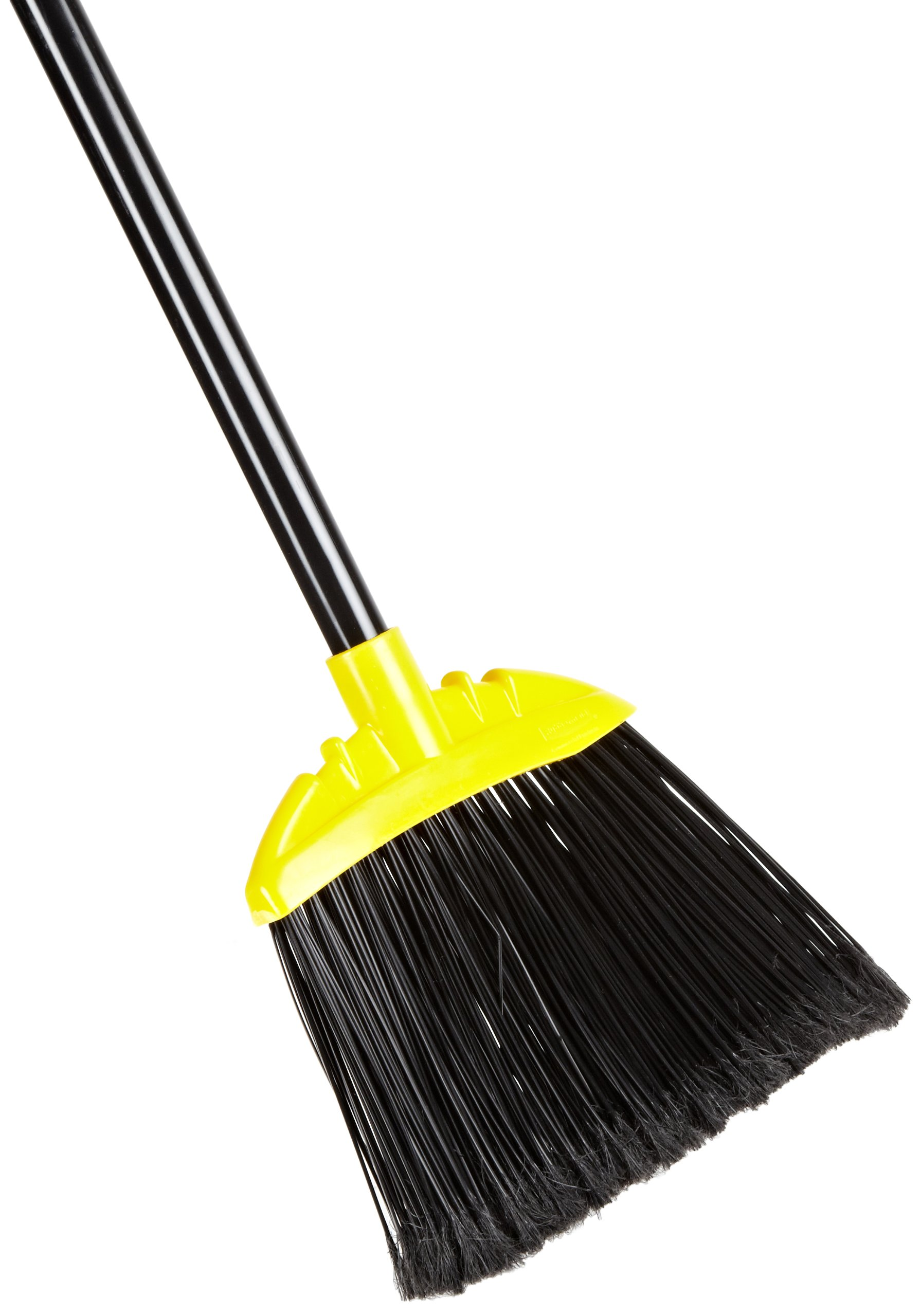 Rubbermaid Commercial FG638906BLA Jumbo Smooth Sweep Polypropylene Angle Broom with Metal Handle, Black