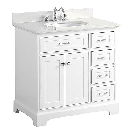 Attrayant Aria 36 Inch Bathroom Vanity (Quartz/White): Includes A White Cabinet With  Soft Close Drawers, White Quartz Countertop, And White Ceramic Sink      Amazon. ...
