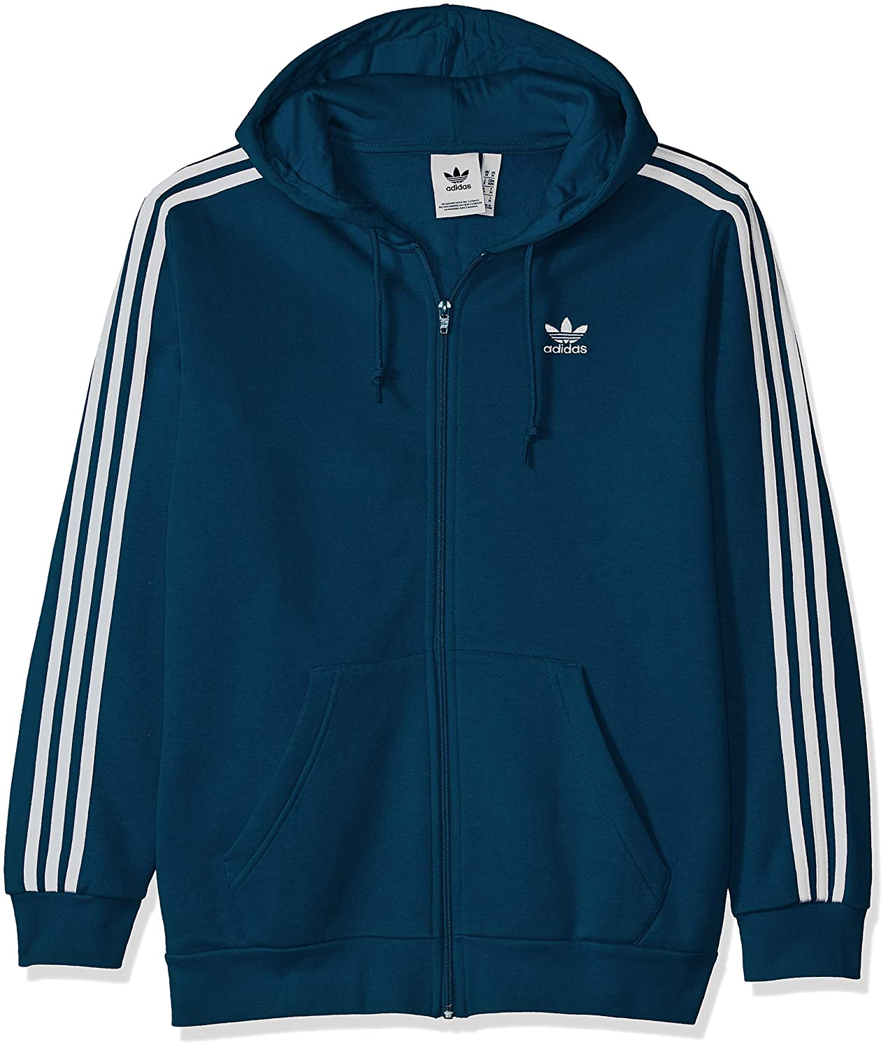 adidas Originals Men's 3-Stripes Zip Hoodie