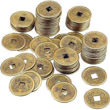 c4eb6888b1 120 Pezzi 1 Pollici Monete Cinesi Feng Shui I-Ching Monete Buona Fortuna  Monete per
