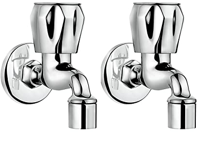 Hindware F200003Cp Classik Foam Flow Bib Tap  with Wall Flang   (Chrome)