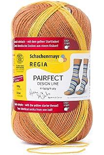 60g Kn/äuel REGIA 4-f/ädig Design Line by ARNE /& CARLOS Kids 9801171-02988 harald color Handstrickgarn Sockengarn