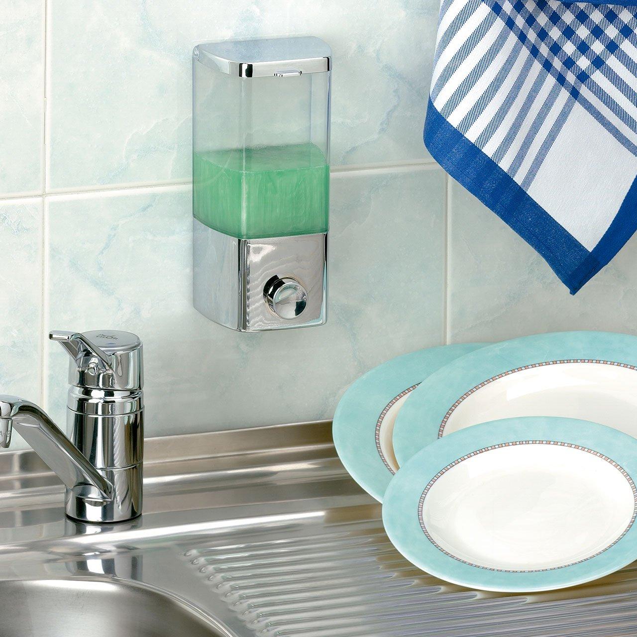 1 Scompartimento 400 ml di capacit/à Rayen 2026 Dispenser per Sapone Bianco Plastica