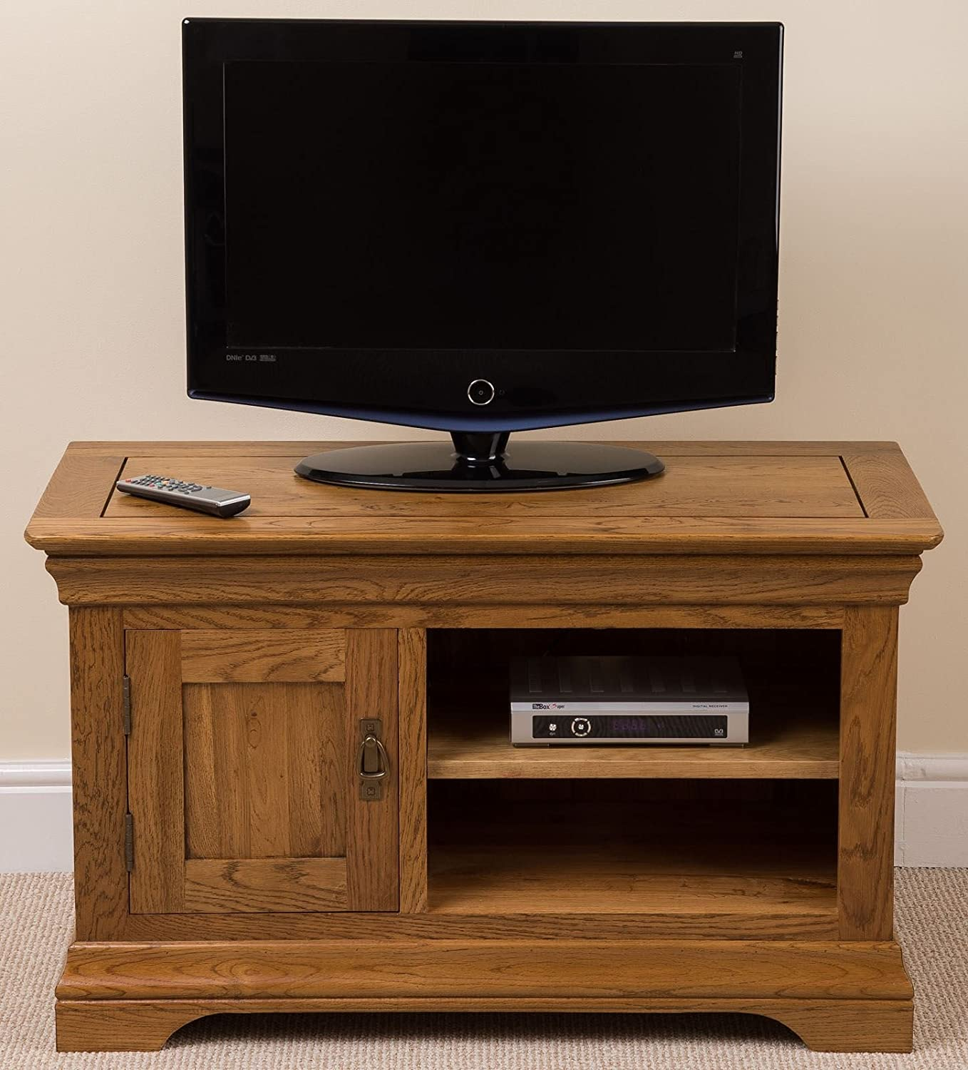 French Rustic Solid Oak Small Tv Unit Stand / DVD / Hi Fi Cabinet Living  Room Furniture, (100 W X 43 D X 60 H Cm): Amazon.co.uk: Kitchen U0026 Home Part 59