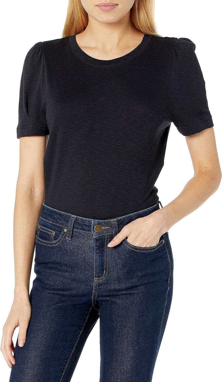 Amazon Brand - Daily Ritual Women's Cotton Modal Stretch Slub Puff Sleeve T-Shirt
