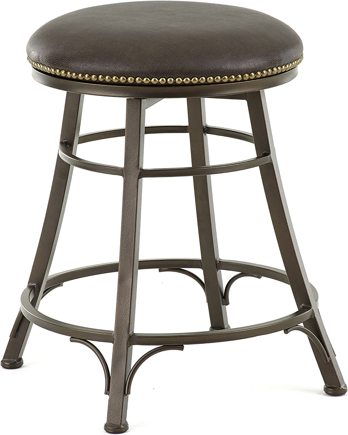 Steve Silver Company Bali Backless Swivel Counter Stool, 18 W x 18 D x 24 H