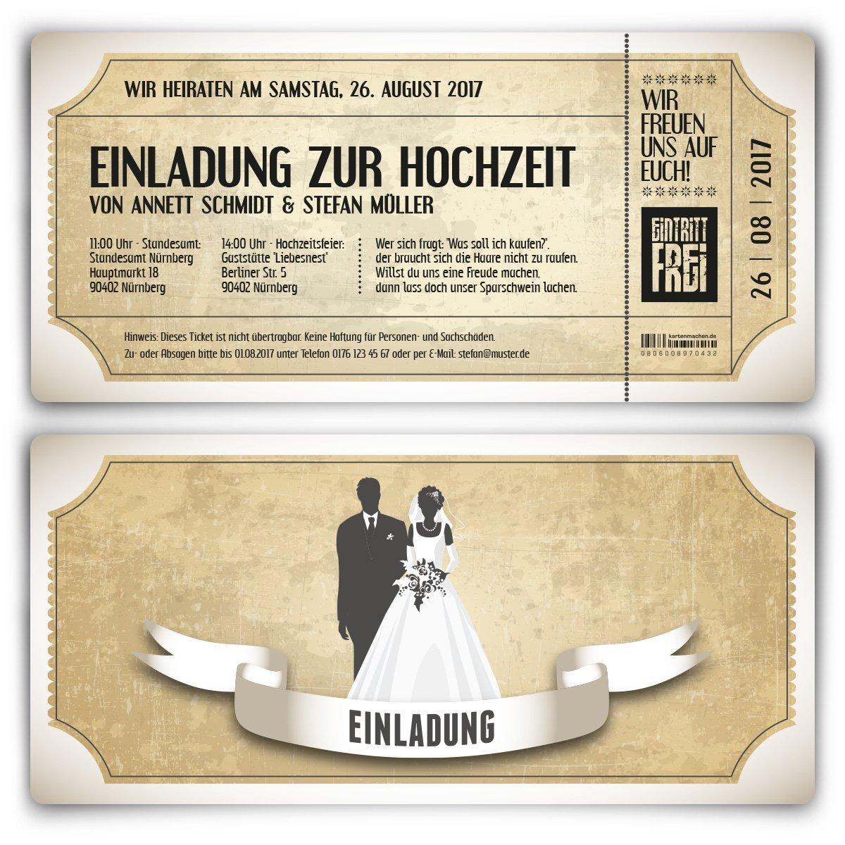 Hochzeitseinladungen Günstig Amazon