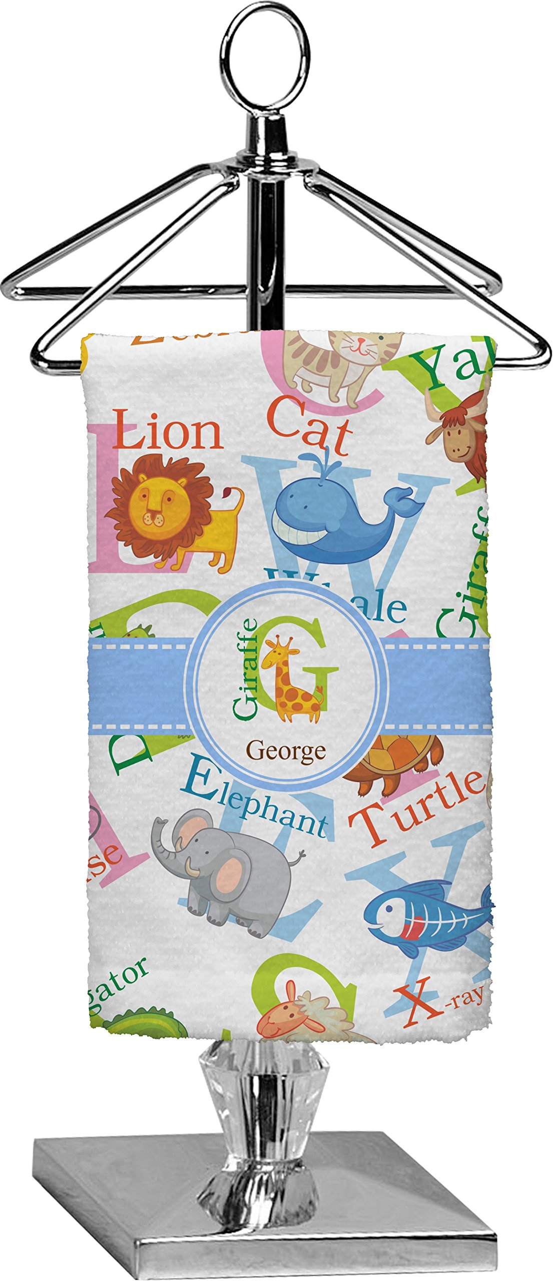 RNK Shops Animal Alphabet Finger Tip Towel - Full Print (Personalized)