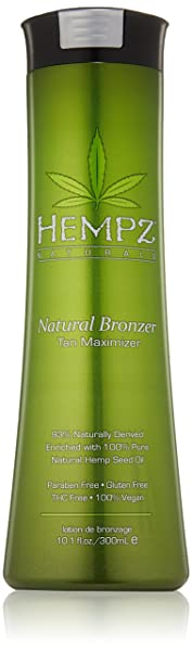 Hempz Natural Bronzer Tan Maximizer, 10.1 Fluid Ounce