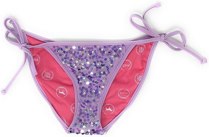 Amazon.com: Victoria s Secret rosa Bikini parte inferior ...