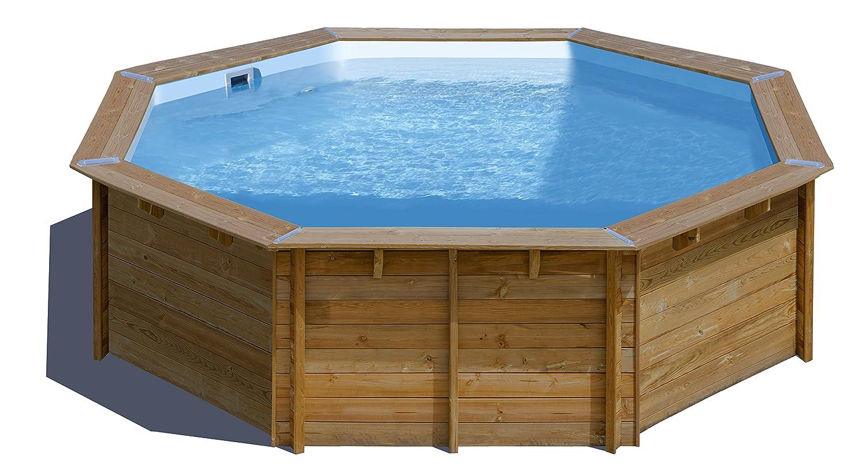 Piscina de madera GRE redonda Violette Wooden Pool GRE 790085: Amazon.es: Juguetes y juegos