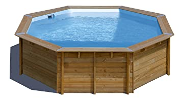 Piscina de madera GRE redonda Violette Wooden Pool GRE ...