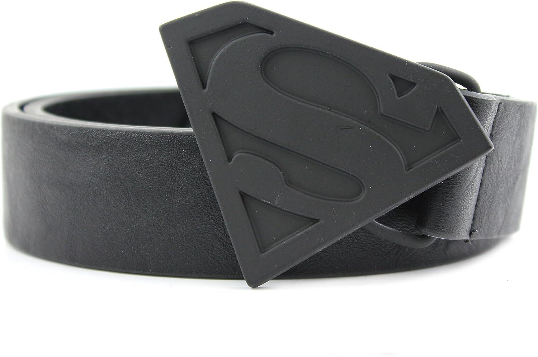 Kinder Lederg/ürtel Batman mit matter Superman-Schnalle Alter 10 V Superman 13