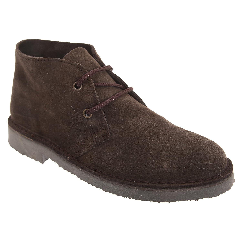 Roamers Damen Desert-Boots / Schnürschuhe / Halbschuhe, Wildleder (38 EUR) (Dunkelbraun)