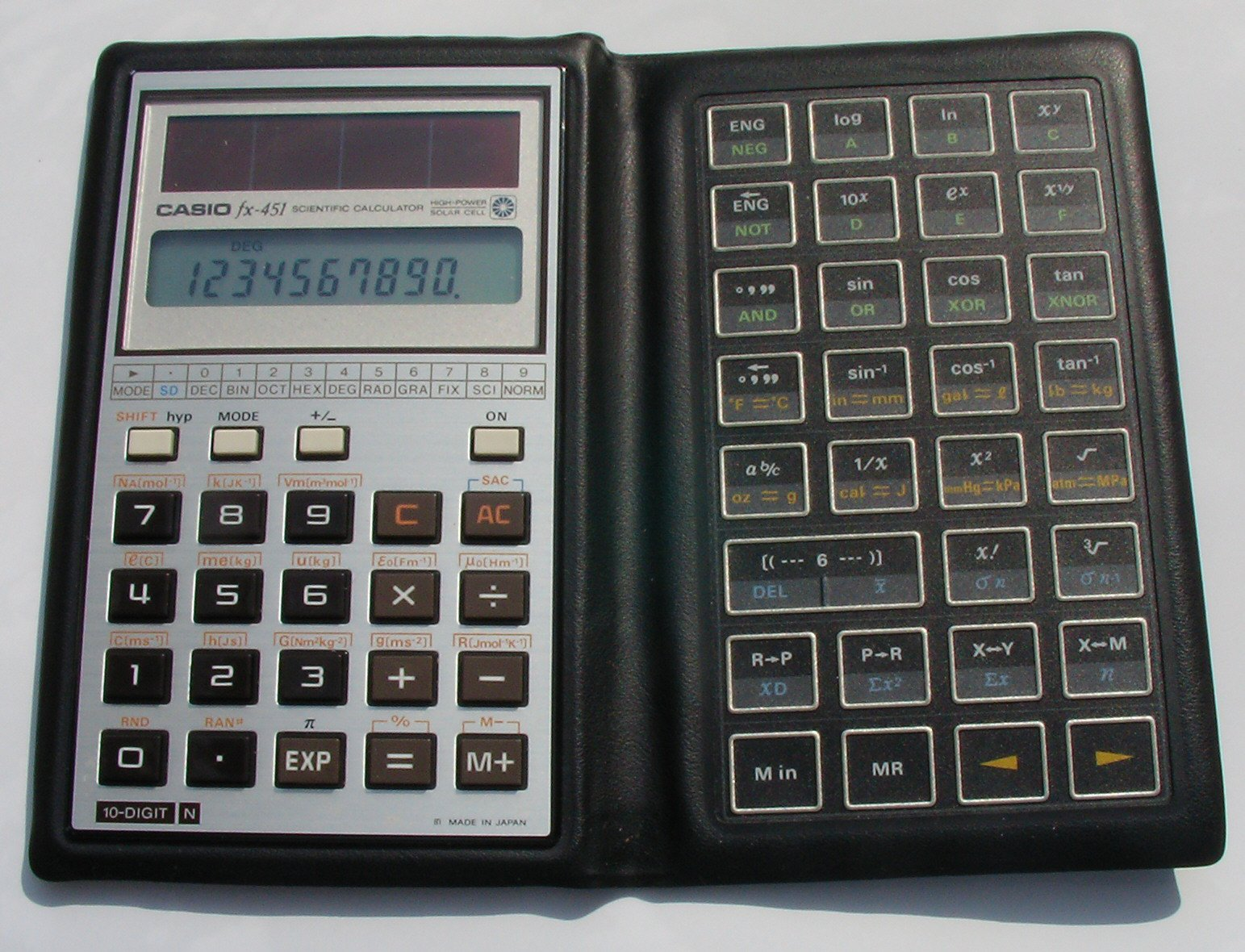 Vintage casio fx-451 scientific calculator boxed manual mint.