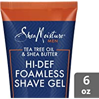 Shea Moisture Tea Tree Oil and Shea Butter Hi-Def Foamless Shave Gel, 177 ml