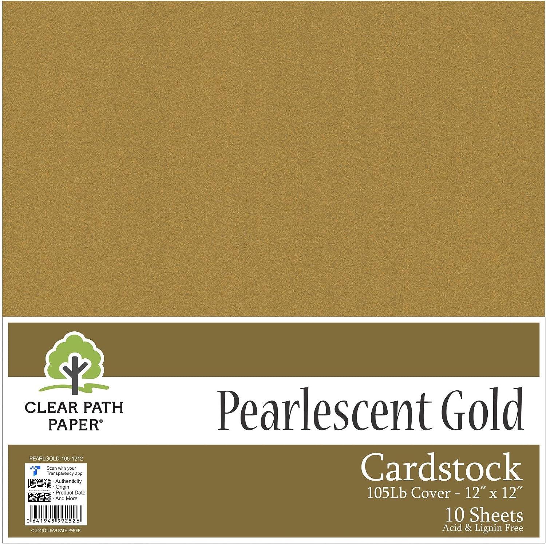 Pearl Shimmer – metálico oro – Cartulina de 12 x 12 pulgadas – 105lb Cover: Amazon.es: Juguetes y juegos