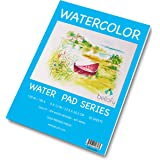 Bellofy 50 Sheet Watercolor Paper Pad - 130 IB / 190 GSM Weight - 9x12 in Size - Cold Press Paper - Water Painting Art…