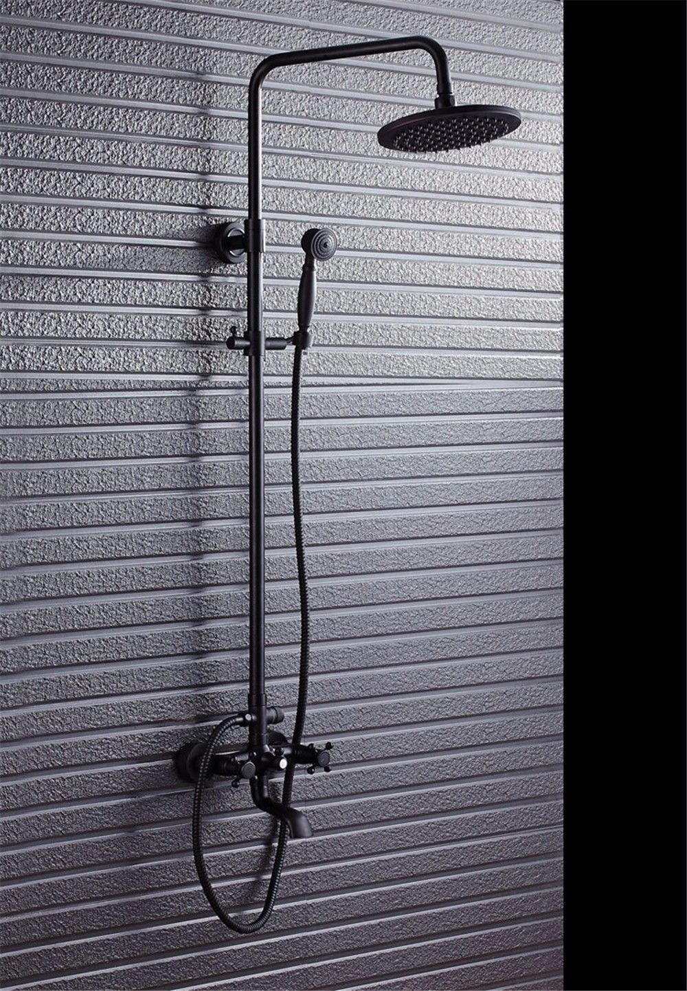 Black NewBorn Faucet Kitchen Or Bathroom Sink Mixer Tap Antique Bathtubs And Showers Showers Set To Lift The Black Retro Shower Shower Water Tap Handheld Shower bluee Decorated Porcelain Black