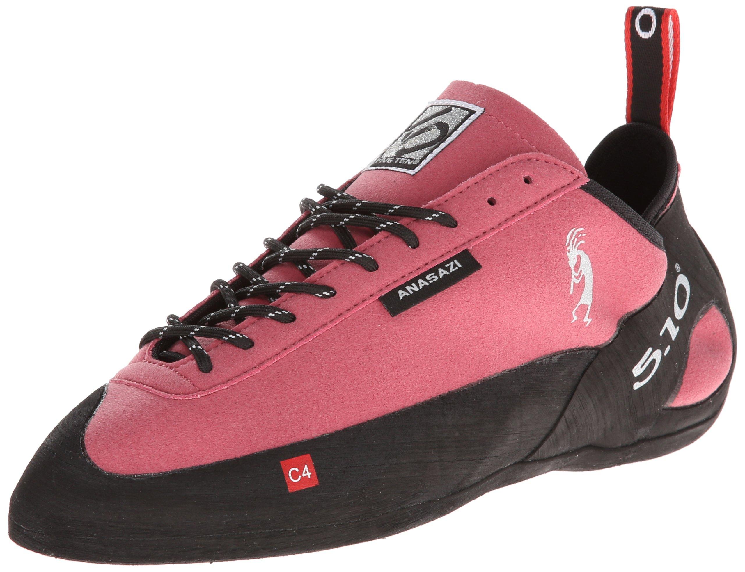 Five Ten Men's Anasazi Lace Climbing Shoe,The Pink,3.5 D US