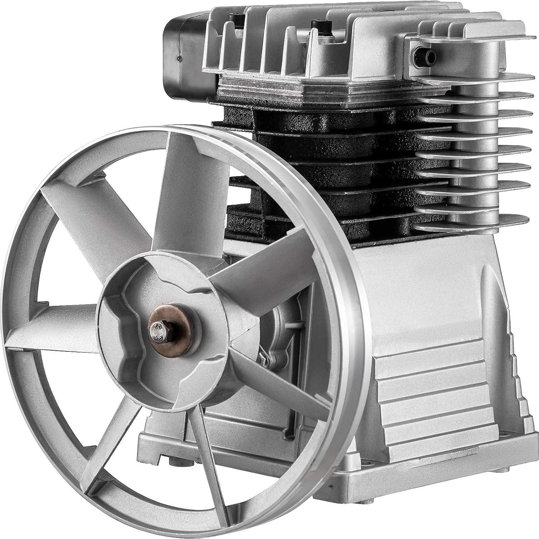 VEVOR Compresor Compactadoras Agregado, 2,2 kW Cabezal de La Bomba del Compresor de Aire, 1.300 rpm Cabezal de Compresor de Aire, Material de Aluminio, para Industrias Químicas, Electrónicas, etc.