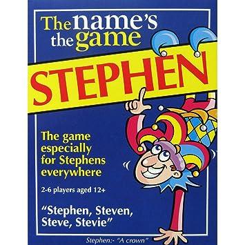 Amazon.com: Stephen s juego: Fun para hombre Idea de regalo ...
