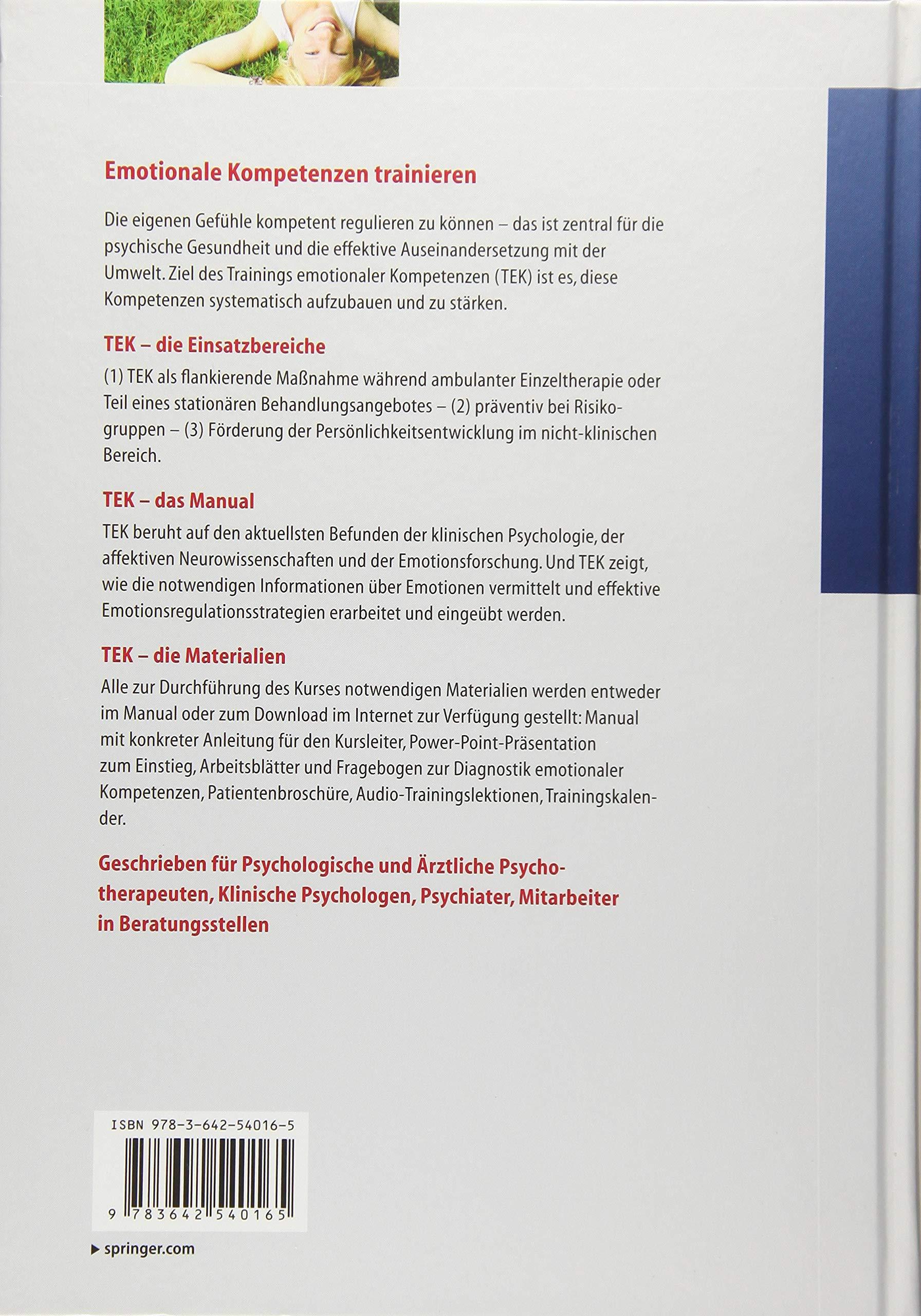 Training emotionaler Kompetenzen Psychotherapie: Praxis: Amazon.de ...