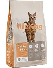 Marque Amazon - Lifelong Complete- Croquettes complètes pour chats adultes, riche en poulet et riz, 1 x 3kg