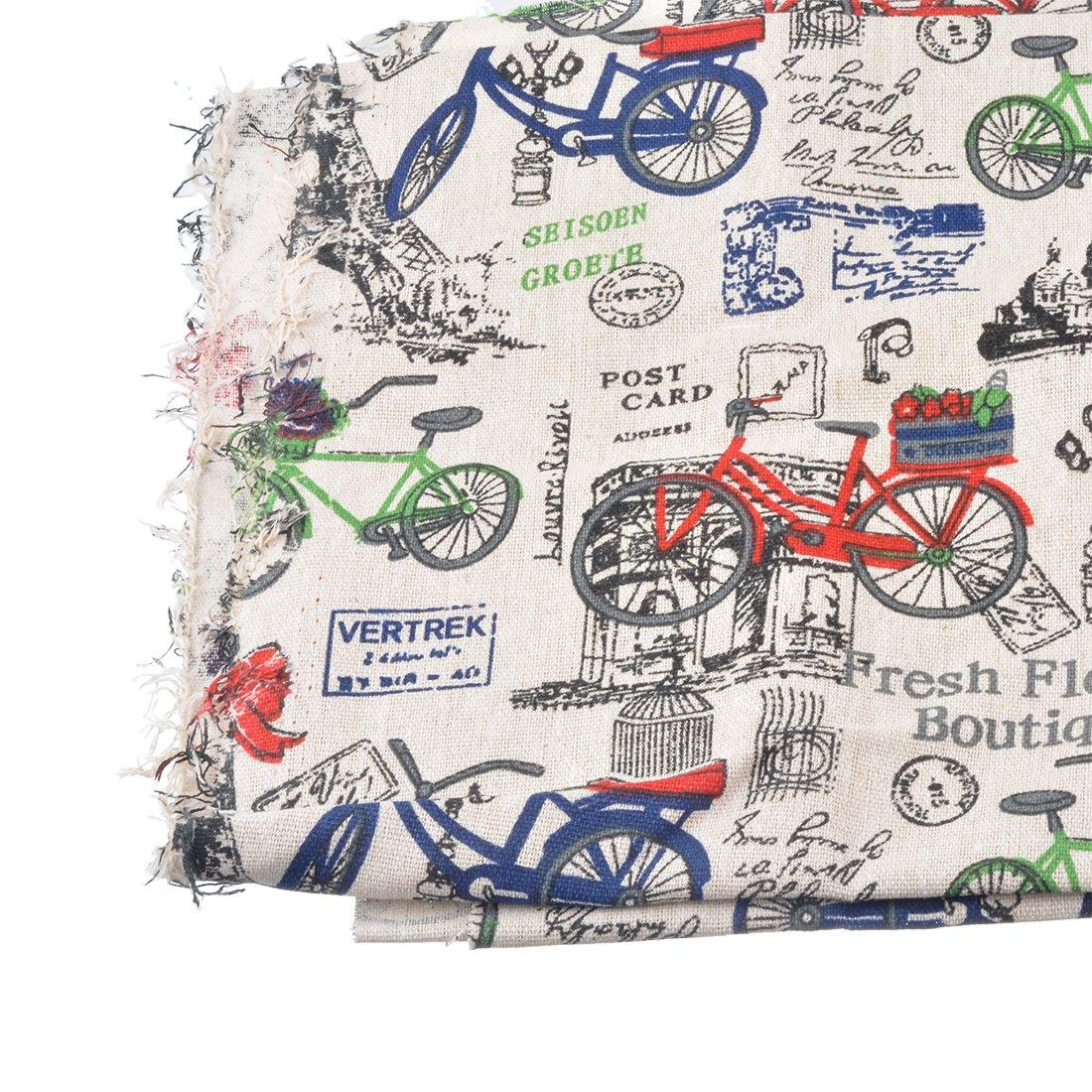 RainBabe Tissu Coton Bricolage DIY Patchwork Artisanat Couture Bicyclette 100cmx50cm