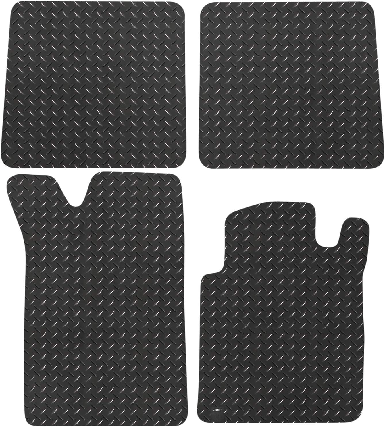 Fully Tailored Rubber Car Mats Set of 3