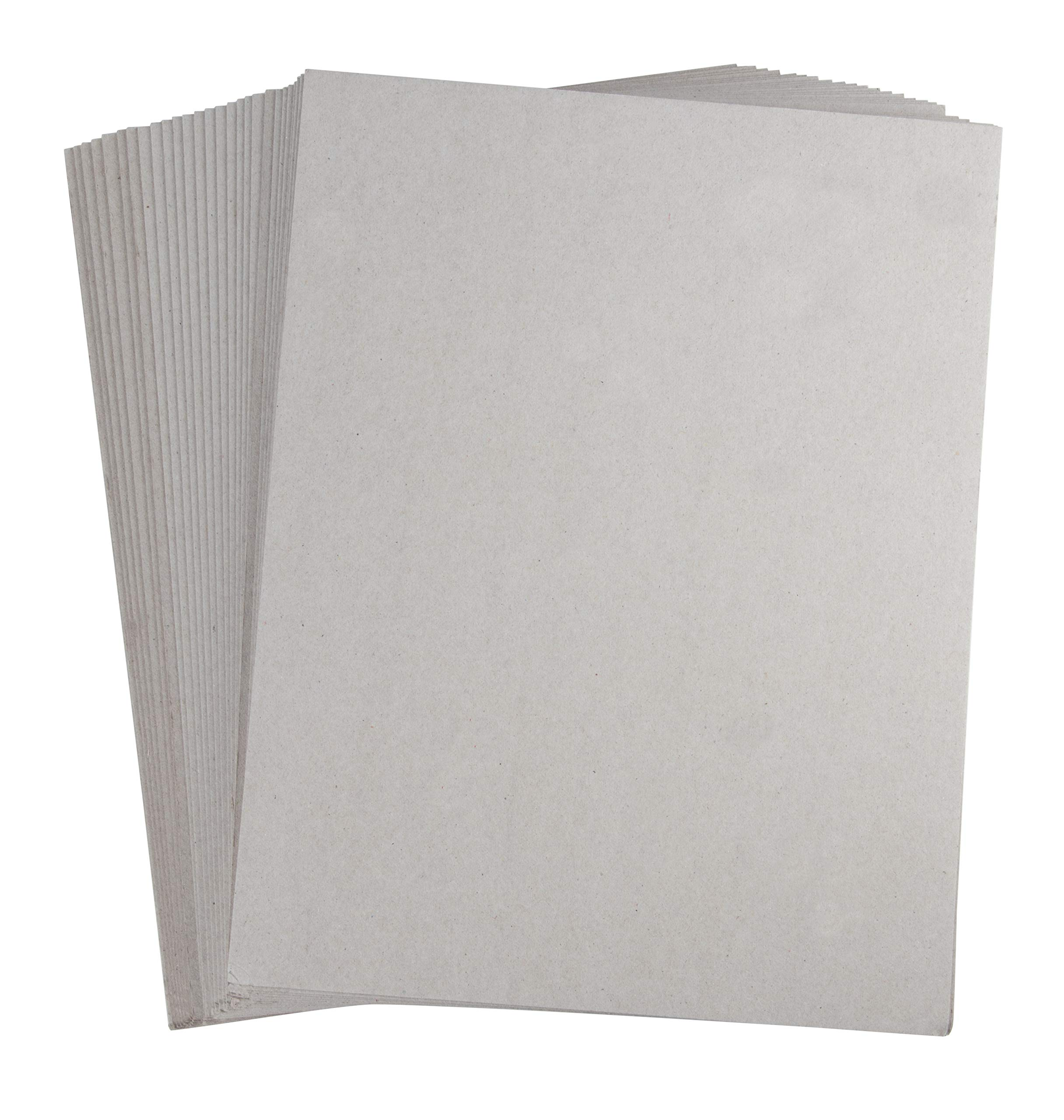 Chipboard Sheets – 100-Pack Chip Boards, Cardboard Papers for Scrapbooking, Art and Craft, Grey, 8.5 x 11 Inches, 0.045 Inches Thickness