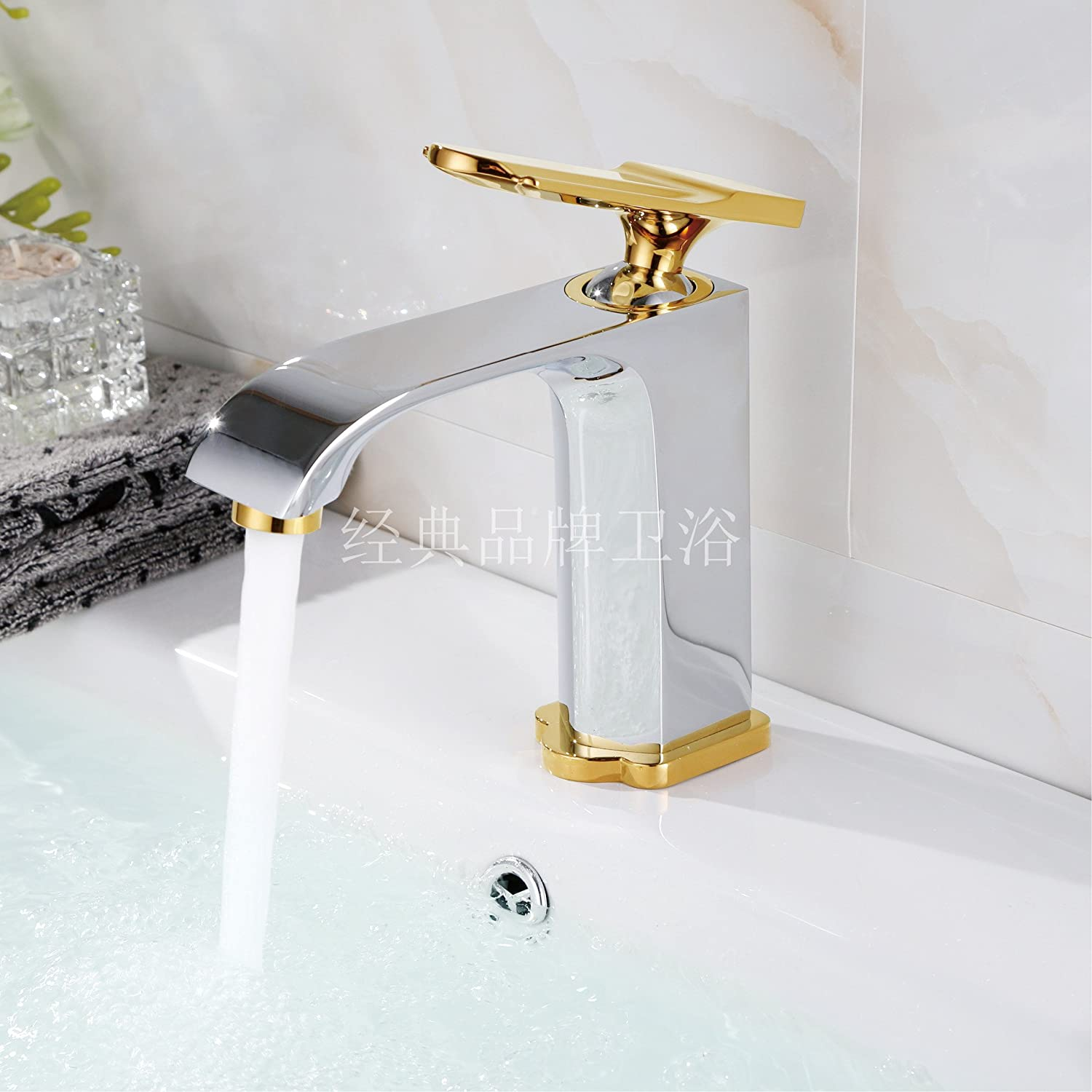 ETERNAL QUALITY Bathroom Sink Basin Tap Brass Mixer Tap Washroom Mixer Faucet The Copper Black matte surface of the tub basin basin mixer high and low, low, hot & cold wa