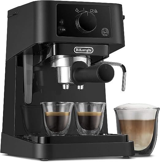 DeLonghi Stilosa Advanced EC235.BK - Cafetera de bomba con 15 bares de presión, 1100 W, 1L, color negro: Amazon.es: Hogar