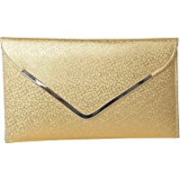 Awesome Fashions Women's Clutch (Royal Golden,Af024)
