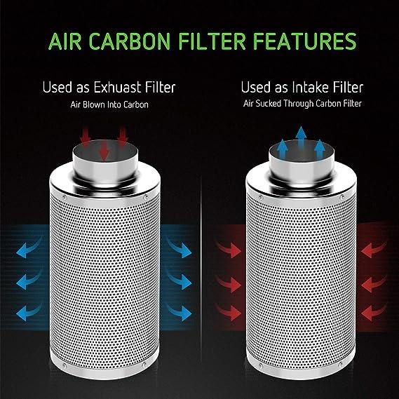 VIVOSUN 4 Inch Air Carbon Filter Odor Control with Australia Virgin Charcoal for