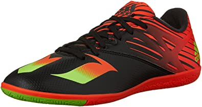 more photos 31674 d092f adidas Performance Messi 15.3 Indoor Soccer Shoe,Black Shock Green Solar Red ,