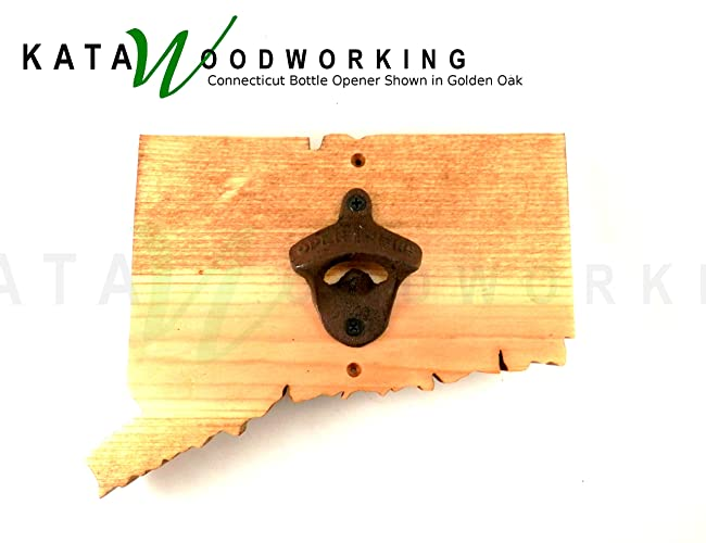 Amazon.com: Connecticut Shaped Wood Cut-out Bottle Opener - Wall ...